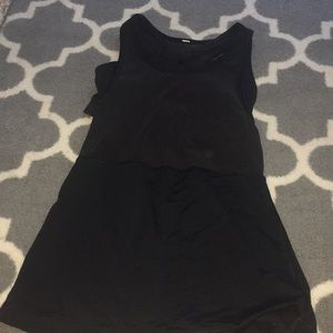 LULULEMON black tank top with built in sports bra